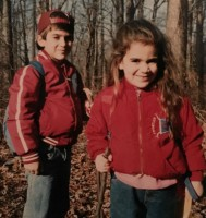 Abbi Jacobson childhood- with brother Brian