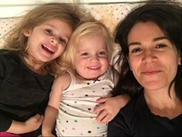 Abbi Jacobson with nieces Stella & Mae Jacobson