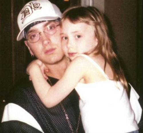 Alaina with Eminem in Childhood