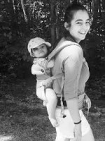 Alanna Masterson with her daughter Marlowe Masterson