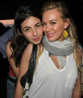 Alanna Masterson with her friend Hilary Duff