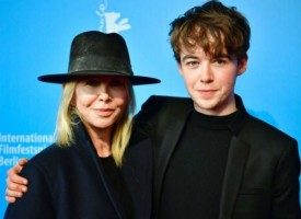 Alex Lawther with mother