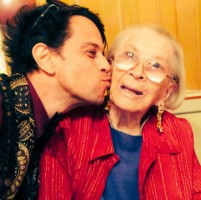 Alexander Polinsky with grandmother Gladys