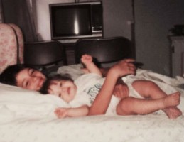 Alexis Knapp with big brother Jose Knapp in childhood