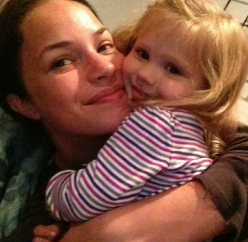 Alexis Knapp with daughter Kailani Knapp