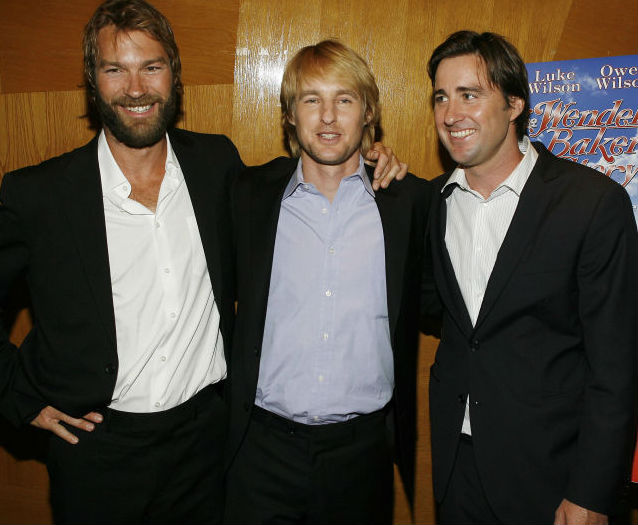 Andrew Wilson with Brothers: Brothers Luke Wilson(Right) & Owen Wilson(Middle)