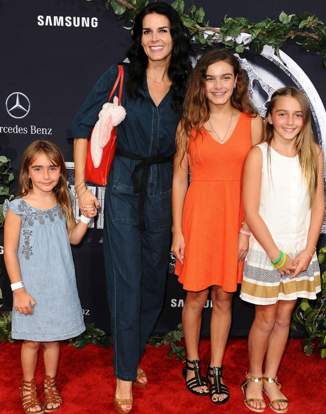 Angie Harmon with her Daughters: Avery Grace Sehorn, Finley Faith Sehorn, Emery Hope Sehorn