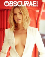Arielle Kebbel on the cover page of Obscurae magazine