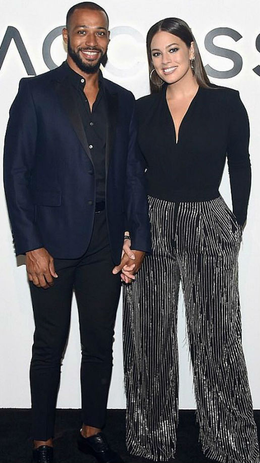 Ashley Graham with husband Justin Ervin
