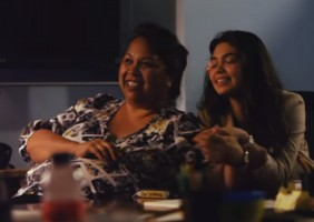 Auli'i Cravalho with her mother Cathleen Puanani Cravalho