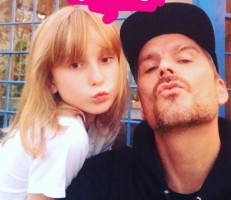 Balthazar Getty & daughter June