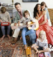Balthazar Getty family: Wife and children