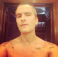 Balthazar Getty shirtless and tattoo
