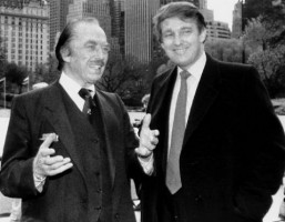 Barron Trump's grandfather Frederick Christ Trump with Donald Trump