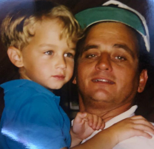 Brandon Flynn with father