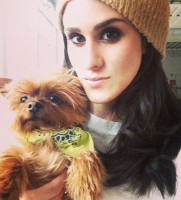 Brittany Furlan with her dog Wicky