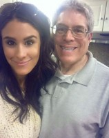 Brittany Furlan with her Father Ron Furlan