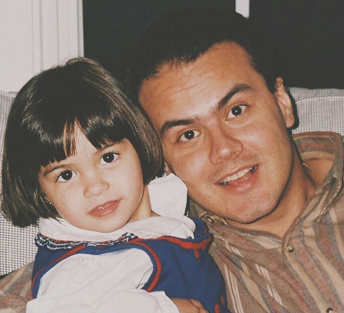 Camila Mendes with her Dad in childhood