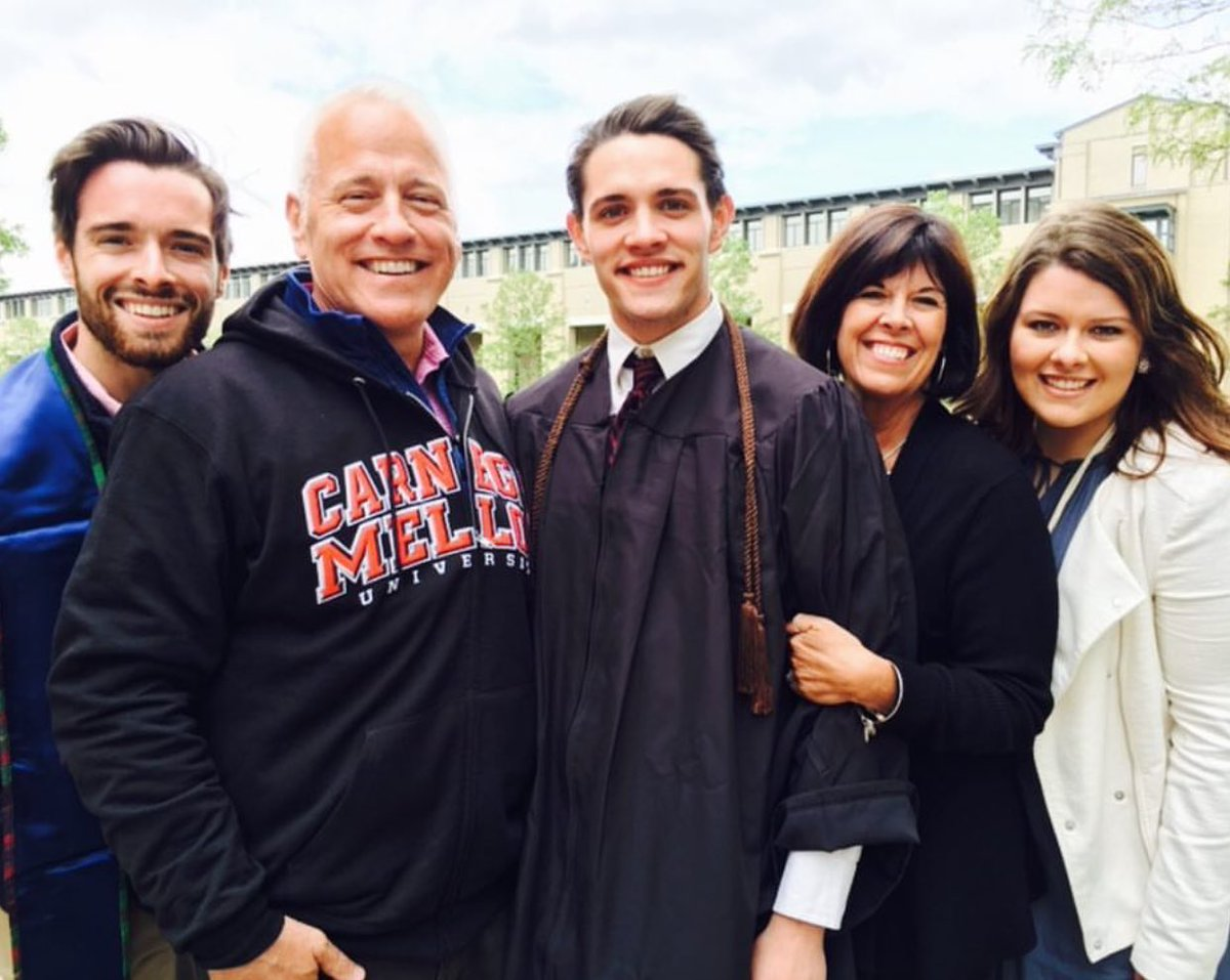 Casey Cott's family at his graduation