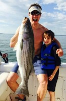 Chris Cuomo fishing with son (+ abs & biceps)
