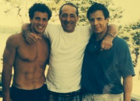 Chris Cuomo with father Mario Cuomo and brother Andrew Cuomo