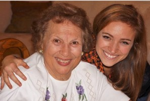 Christy Altomare with her grandma Yiayia