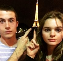 Dylan Minnette with his girlfriend Kerris Dorsey
