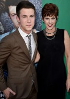 Dylan Minnette with his mom Robyn Maker-Minnette