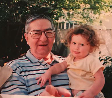 Emma Kenney with grandfather