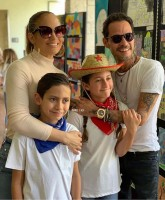Emme and Max Muniz with parents- Jennifer Lopez and Marc Anthony