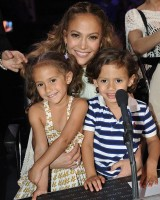 Emme and Maximilian Muniz with mom Jennifer Lopez