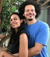 Eric Andre with girlfriend Rosario Dawson