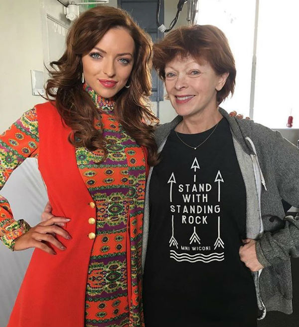 Francesca Eastwood with her Mom Frances Fisher