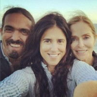 Francesca Gregorini with Brother- Gianni Gregorini & Mother