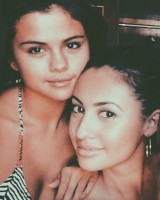 Francia Raisa with Selena Gomez