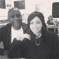 Georgina Campbell with her father