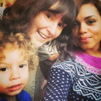 Georgina Campbell with her Mother & Nephew