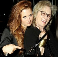 Grace Gummer with mother Meryl Streep