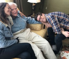 Grant Gustin & wife Andrea with Grandfather