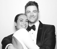 Grant Gustin with wife Andrea Thoma