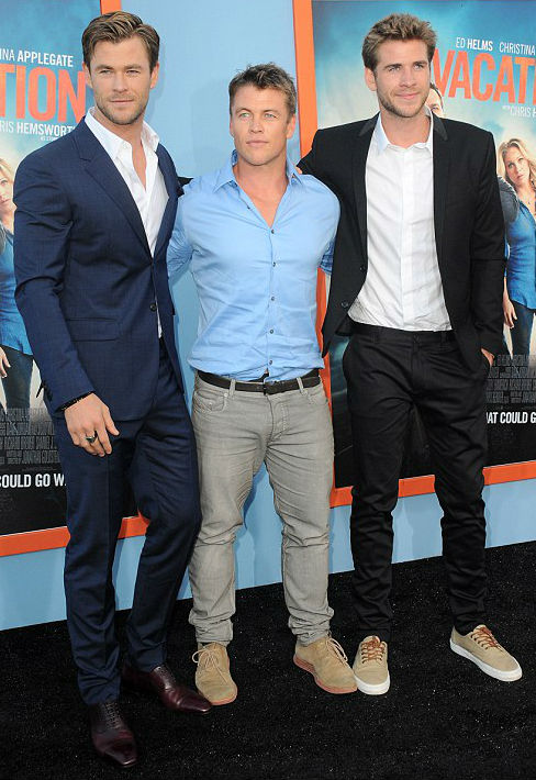 Hemsworth Brothers- Luke, Chris, Liam