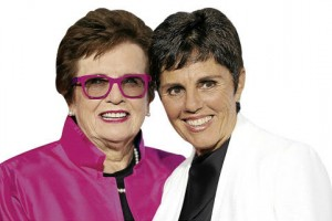 Ilana Kloss with Girlfriend Billie Jean King