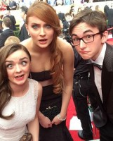 Isaac Hempstead Wright with co-stars