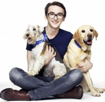Isaac Hempstead Wright with his pets