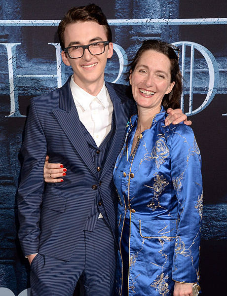 Isaac Hempstead Wright with Mom Helen Wright