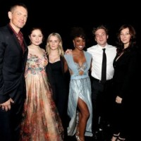 Isidora Goreshter with Shameless cast