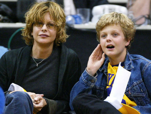 Jack Quaid childhood photo with mother Meg Ryan