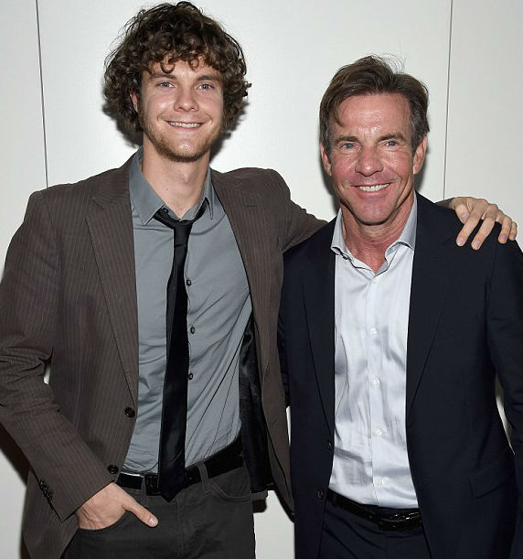 Jack Quaid with Father Dennis Quaid