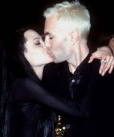 James Haven & Angelina jolie kissing