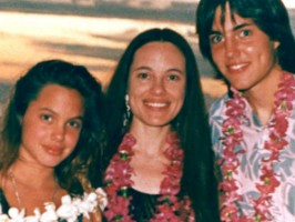 James Haven with Marcheline Bertrand(mother), Angelina Jolie(sister)